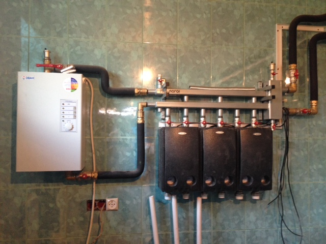 резервная система отопления на основе электрического котла Эван