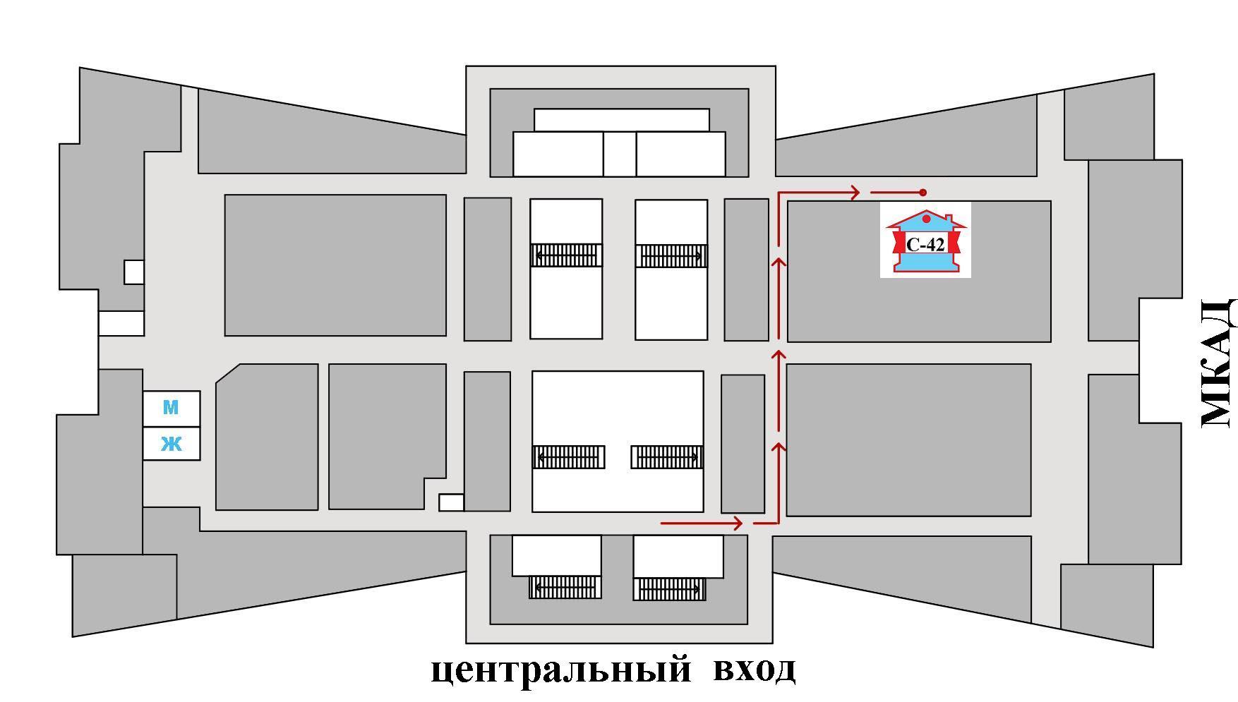 Схема расположения магазина teplo4you.ru в Торговом Центре